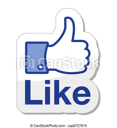 taste, facebook, ihm, mögen - csp9727915