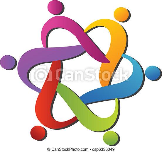 Team hilft beim Logo. - csp6336049