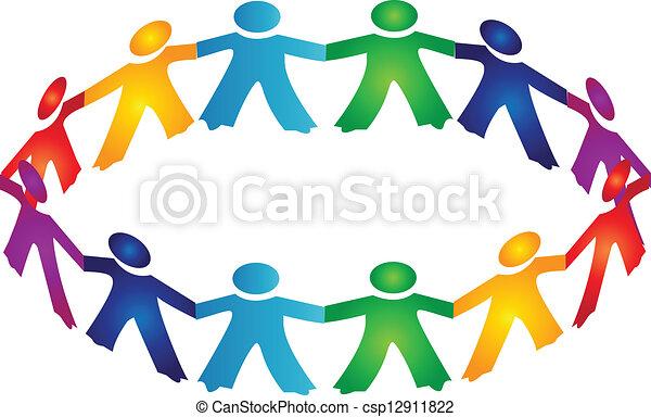 Teamwork-Leute-Logo. - csp12911822
