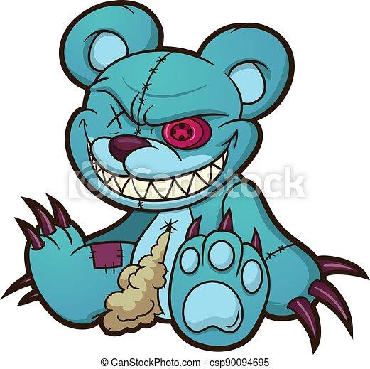 teddybär, übel - csp90094695