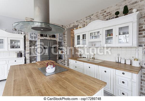 Toskana - Küchenregale. - csp17289748