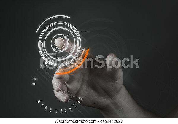 Touchscreen-Technologie - csp2442627