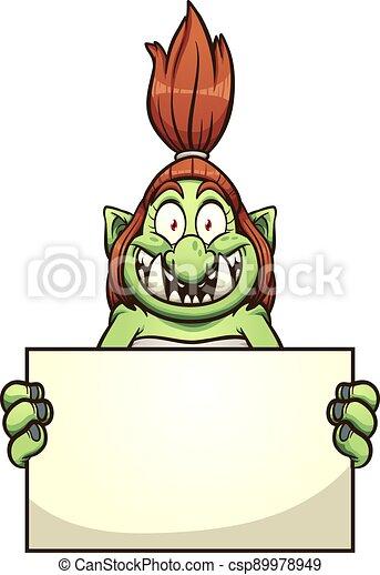 troll, zeichen - csp89978949