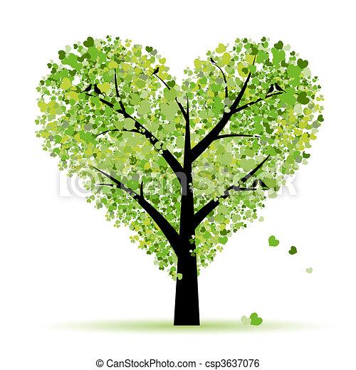Valentinstag, Liebe, Blatt aus Herzen - csp3637076