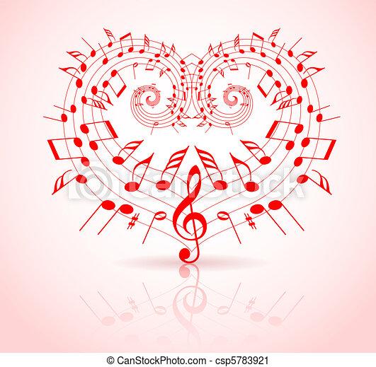 Valentinstagsmusik-Thema - csp5783921