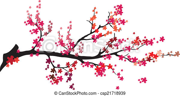 Vector - Baum mit Vögeln. - csp21718939