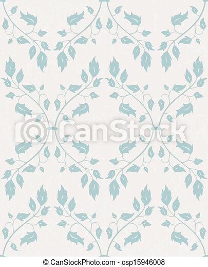 Vector nahtlos. Floral Hintergrund. - csp15946008