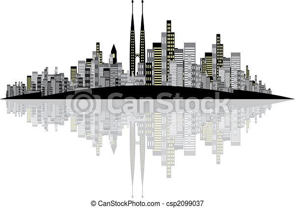 Vector Skyline Hintergrund - csp2099037