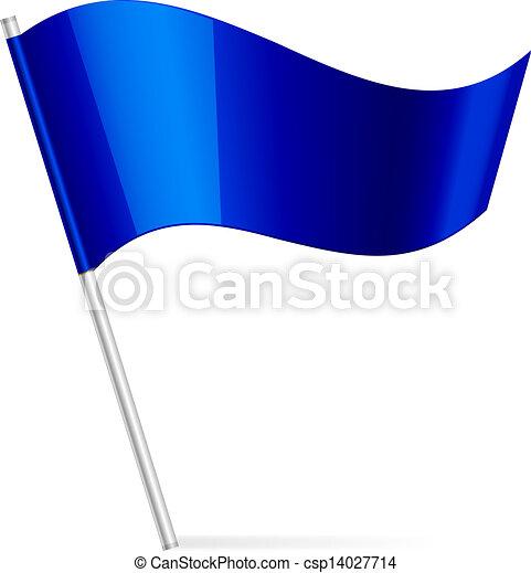 Vektor Illustration der blauen Flagge - csp14027714