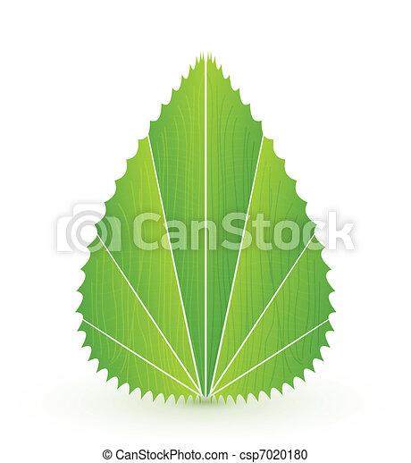 Vektorblatt-Konzept. Ein abstraktes Symbol der Natur - csp7020180