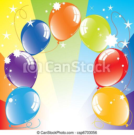 Vektorfarbene Ballons und leichter Ausbruch - csp6703056