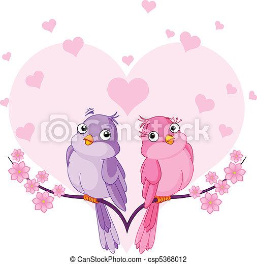 Verliebte Vögel - csp5368012