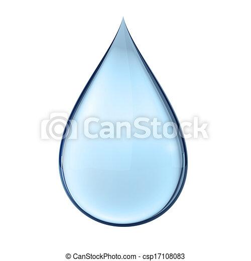 3D Wassertropfen auf weiß - csp17108083