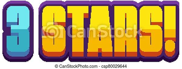weißes, wort, hintergrund, 3, sternen, design - csp80029644