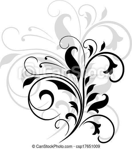 Wirbelnde Blumenmuster. - csp17651009