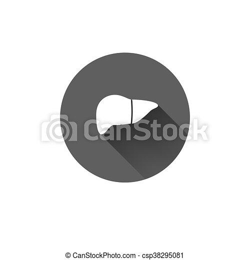 Flat long shadow human Leber Icon - csp38295081