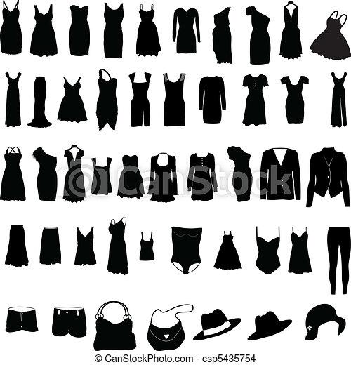 Unverzeihliche Frauenkleider-Silho - csp5435754