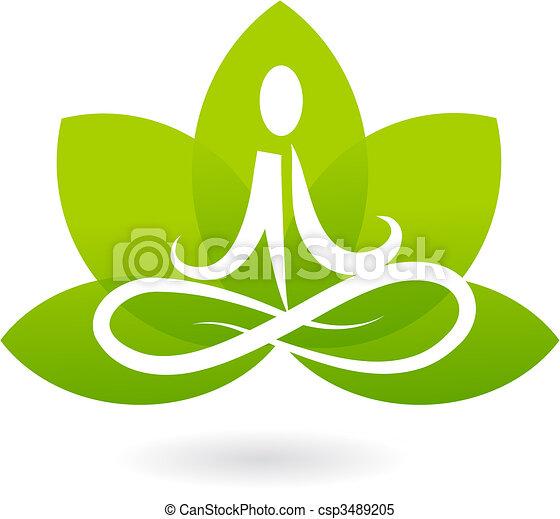 Yoga Lotus Icon / Logo - csp3489205