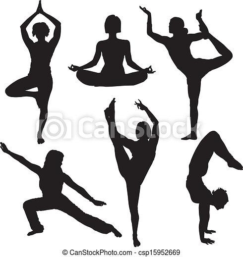 Yoga Silhouette - csp15952669