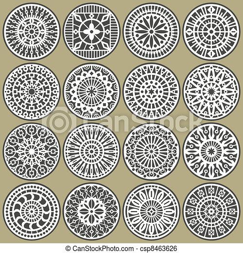 Zierdekreise dekorieren - csp8463626