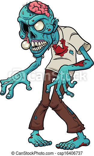 Cartoon Zombie - csp16406737