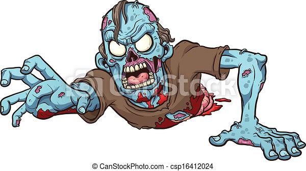 Kriechender Zombie - csp16412024