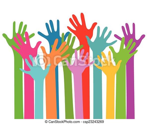 Hände zusammen - csp23243269